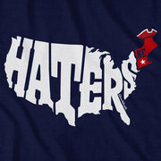 New England Haters Map T-Shirt - Chowdaheadz