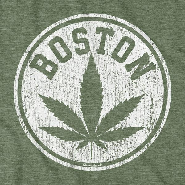 Distressed Boston Leaf T-Shirt - Chowdaheadz