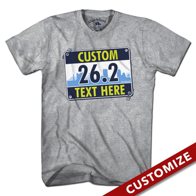 Custom Race Bib T-Shirt - Chowdaheadz