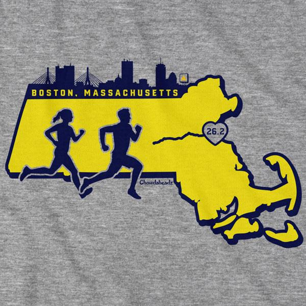 Massachusetts Runner T-Shirt - Chowdaheadz