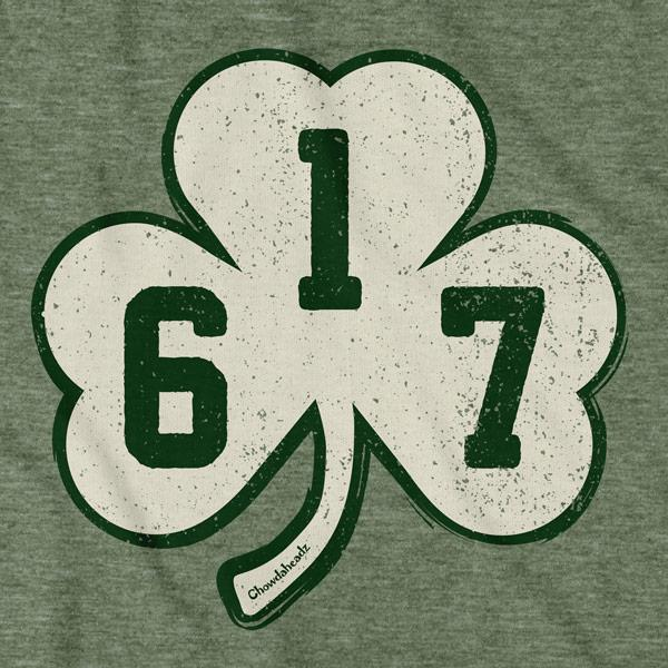 Distressed 617 Shamrock T-Shirt - Chowdaheadz