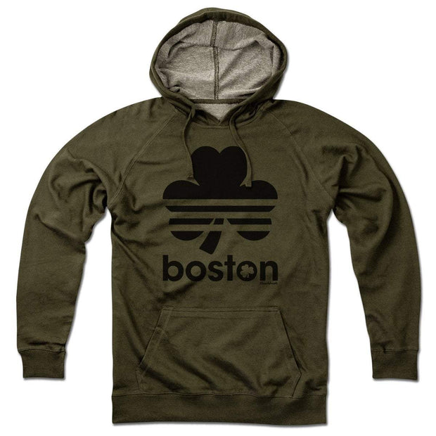 Boston Shamrock Blackout Lightweight Hoodie - Chowdaheadz