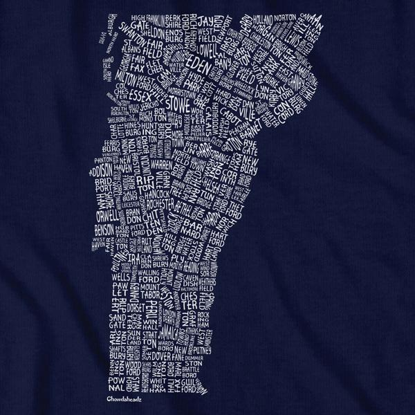 Vermont Cities & Towns T-Shirt - Chowdaheadz