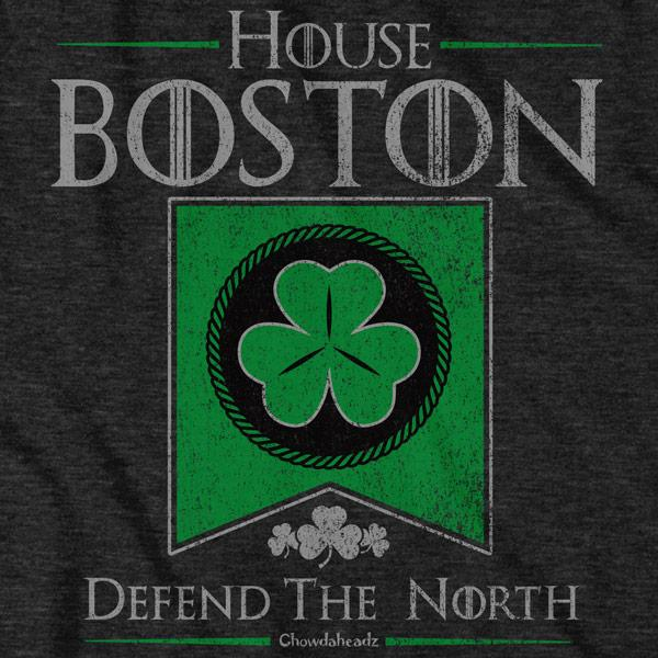 House Boston Shamrock Banner T-shirt - Chowdaheadz
