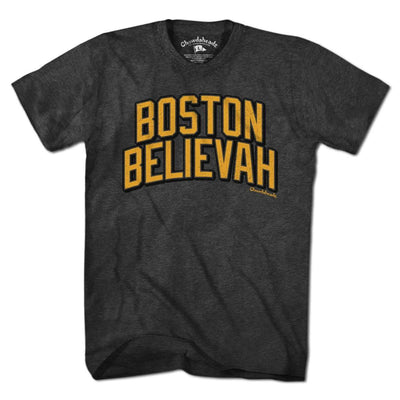 Boston Believah Black & Gold T-Shirt - Chowdaheadz