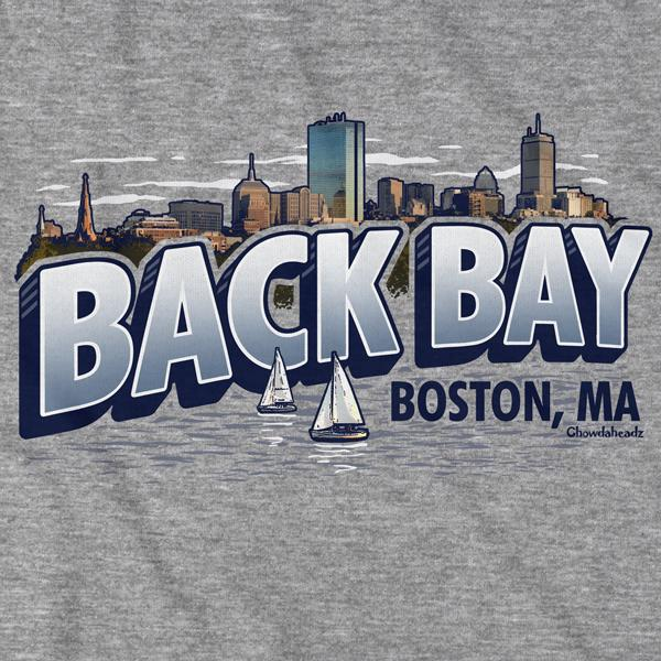 Back Bay Boston, MA T-Shirt - Chowdaheadz