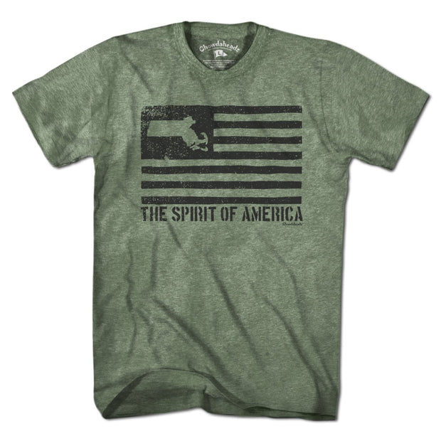 Mass American Black Flag T-Shirt - Chowdaheadz