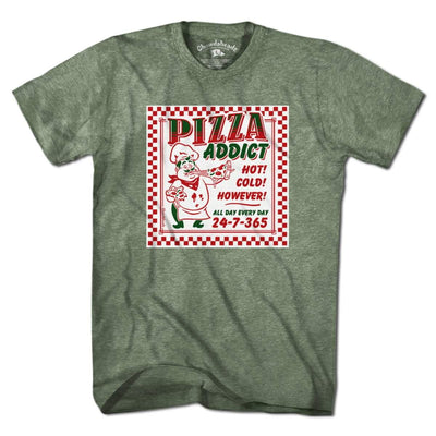 Pizza Addict T-Shirt - Chowdaheadz