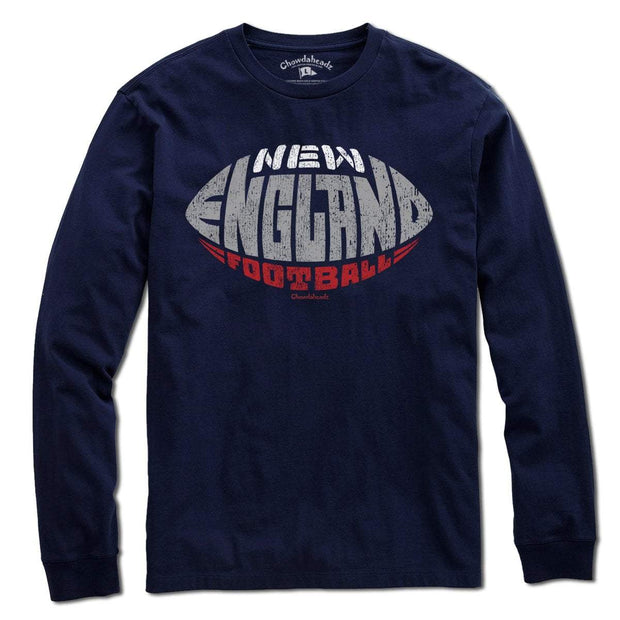 New England Football Shape T-Shirt - Chowdaheadz