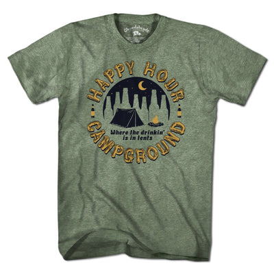 Happy Hour Campground T-Shirt - Chowdaheadz