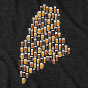 Maine Beer Glasses T-Shirt - Chowdaheadz