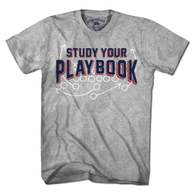 Study Your Playbook T-Shirt - Chowdaheadz