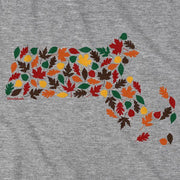 Massachusetts Fall Leaves T-Shirt - Chowdaheadz
