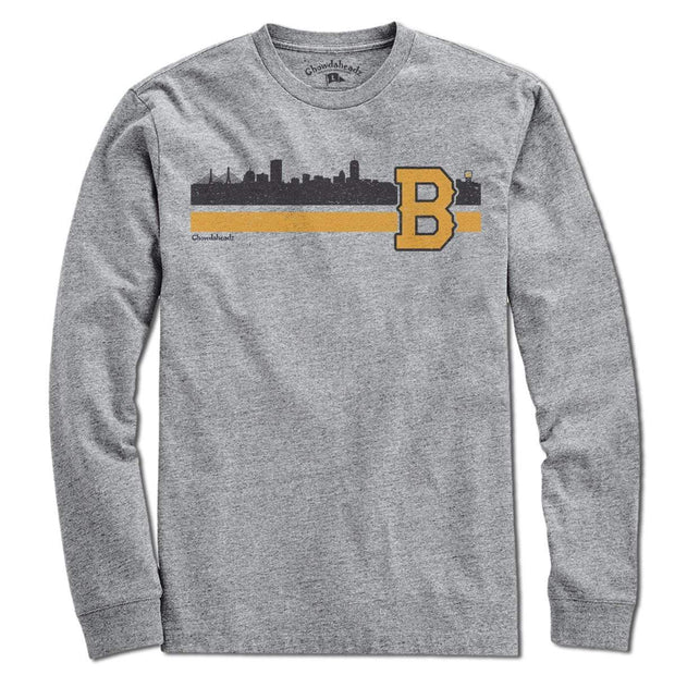 Boston B Black & Gold Sideline T-Shirt - Chowdaheadz