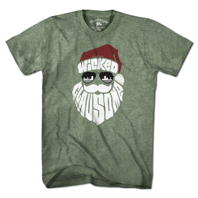 Wicked Clausome Holiday T-Shirt - Chowdaheadz