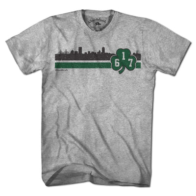 Boston 617 Shamrock Sideline T-Shirt - Chowdaheadz