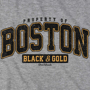 Property of Boston Black & Gold T-Shirt - Chowdaheadz