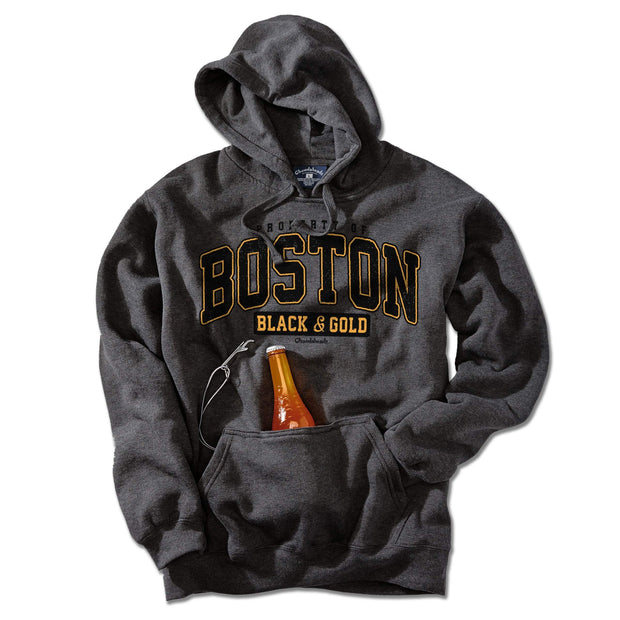 Property of Boston Black & Gold Tailgater Hoodie - Chowdaheadz