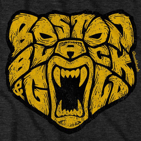 Boston Black & Gold Bear T-Shirt - Chowdaheadz