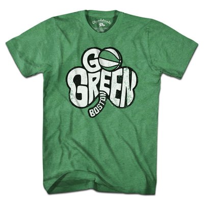Go Green Boston Shamrock T-Shirt - Chowdaheadz