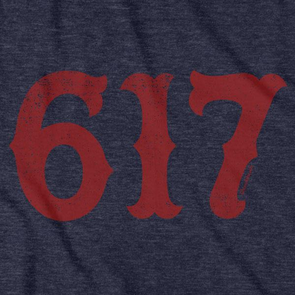 Boston 617 Team Spirit T-Shirt - Chowdaheadz