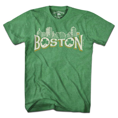 Boston Irish Skyline T-Shirt - Chowdaheadz