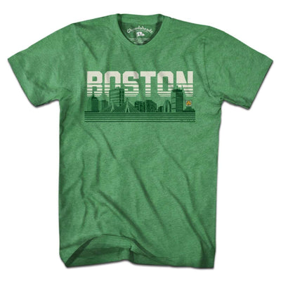 Boston Lined Cityscape T-Shirt - Chowdaheadz