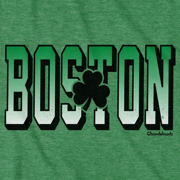 Tall Block Boston Shamrock T-Shirt - Chowdaheadz