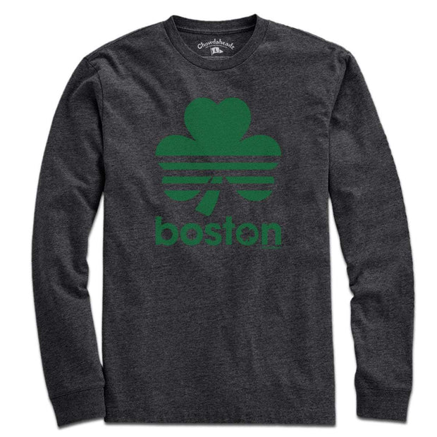 Boston Retro Shamrock Green Line T-Shirt - Chowdaheadz