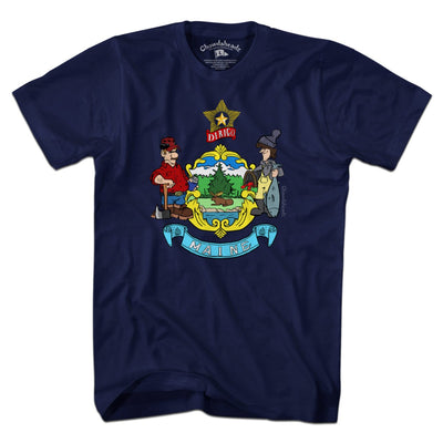 Maine Flag T-Shirt - Chowdaheadz