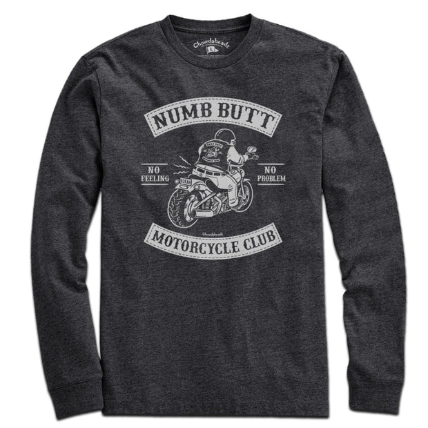 Numb Butt Motorcycle Club T-Shirt - Chowdaheadz