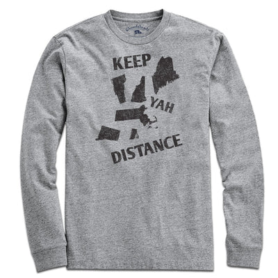 Keep Yah Distance New England T-Shirt - Chowdaheadz