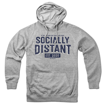 Socially Distant Lightweight Hoodie - Chowdaheadz