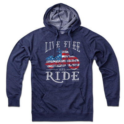 Live Free and Ride Lightweight Hoodie - Chowdaheadz