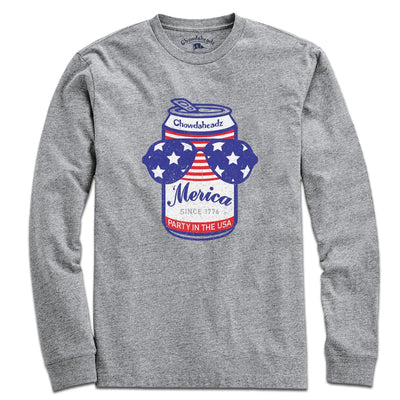 Patriotic Beer Can T-Shirt - Chowdaheadz