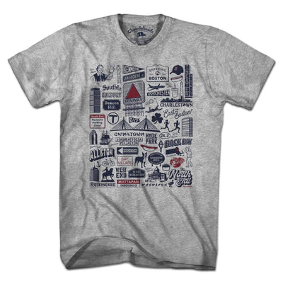 Boston Tourist Attraction T-Shirt - Chowdaheadz
