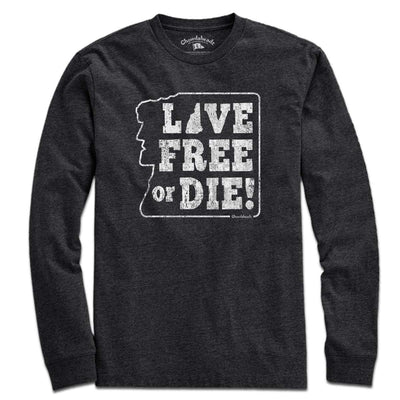 Old Man Live Free Or Die T-Shirt - Chowdaheadz