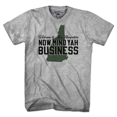 New Hampshire Mind Yah Business T-Shirt - Chowdaheadz