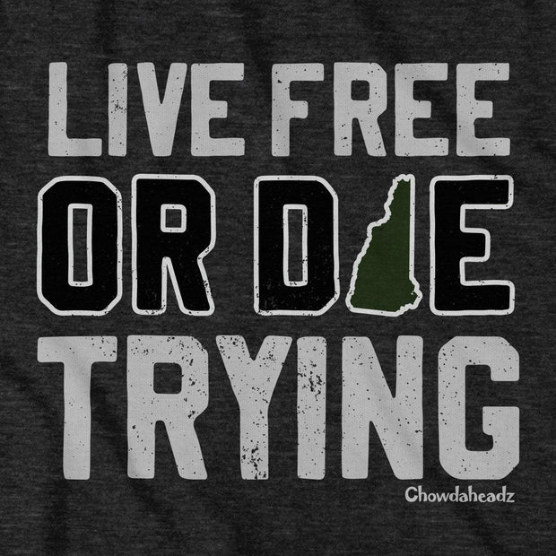Live Free Or Die Trying New Hampshire T-Shirt 1