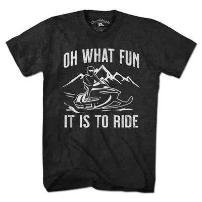 Oh What Fun It Is To Run T-Shirt - Chowdaheadz