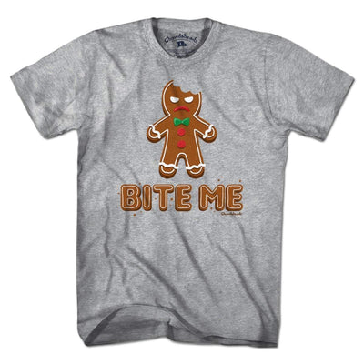 Bite Me Gingerbread Man T-Shirt - Chowdaheadz