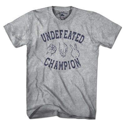 Undefeated Rock Paper Scissors Champion T-Shirt - Chowdaheadz