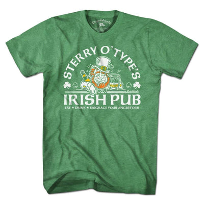 Sterry O'Type's Irish Pub T-Shirt - Chowdaheadz