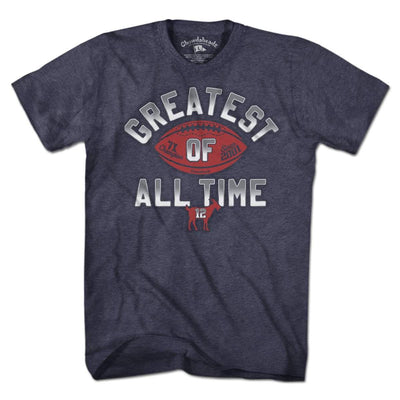 Greatest Of All Time Football T-Shirt - Chowdaheadz