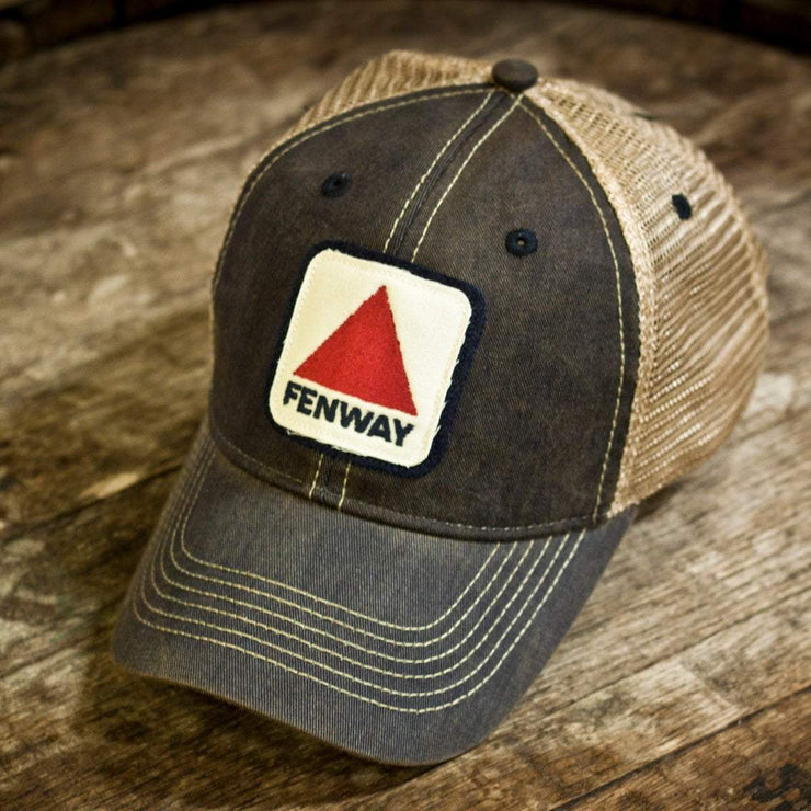 "Fenway Patch ""Dirty Water"" Mesh Trucker Navy Hat - Chowdaheadz"