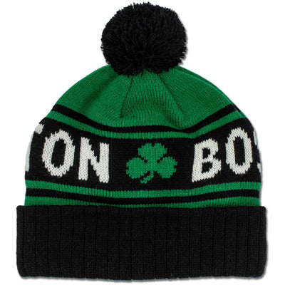 Boston Shamrock Old School Knit Winter Hat - Chowdaheadz