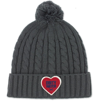 Dirty Water Heart Newbury Knit Hat - Chowdaheadz