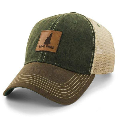 "New Hampshire Patch ""Dockside"" Trucker Hat - Chowdaheadz"