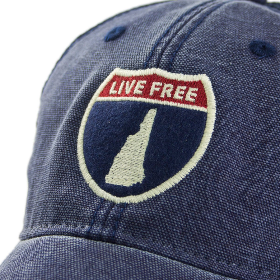 New Hampshire Road Sign Cobblestone Trucker Hat - Chowdaheadz