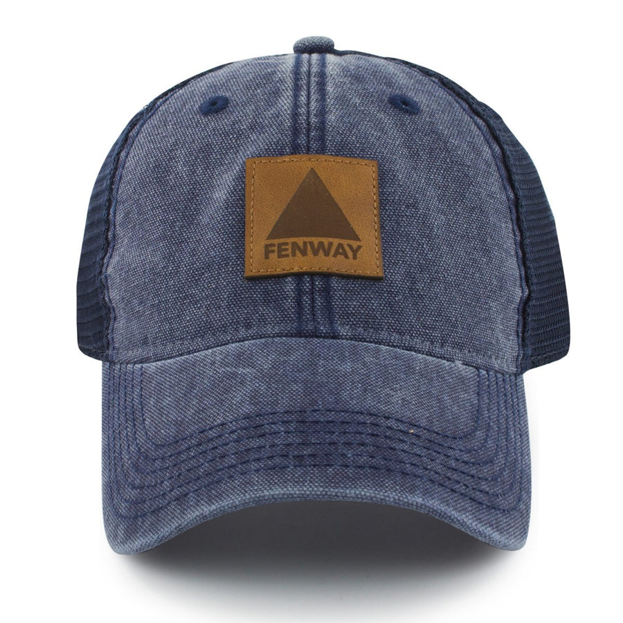 Fenway Leather Patch Cobblestone Trucker - Chowdaheadz